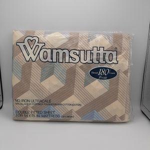 "WAMSUTTA ""AERIAL"" VINTAGE FULL FITTED NWT"